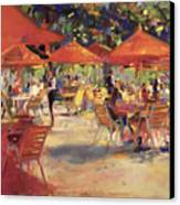 Le Cafe Du Jardin  Canvas Print by Peter Graham