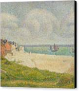 Le Crotoy Looking Upstream Canvas Print