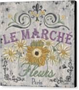 Le Marche Aux Fleurs 1 Canvas Print