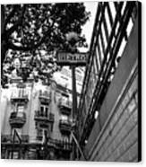 Le Metro From Below Canvas Print by Kathy Yates