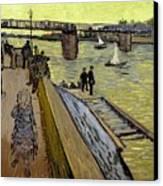 Le Pont De Trinquetaille In Arles Canvas Print by Vincent Van Gogh