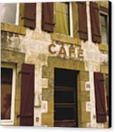 Le Vieux Cafe    The Old Cafe Bar Canvas Print by Mark Hendrickson