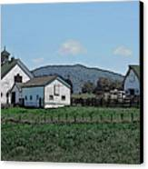 Lea Homestead Canvas Print by DigiArt Diaries by Vicky B Fuller