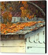 Leaf Shed Canvas Print by Holly Ethan