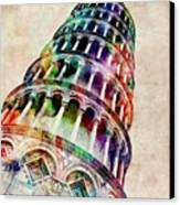 Leaning Tower Of Pisa Canvas Print