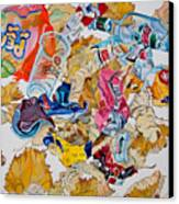 Leaves And Rubbish Canvas Print