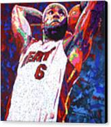 Lebron Dunk Canvas Print