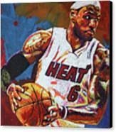 Lebron James 3 Canvas Print by Maria Arango