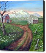 Left Behind - The Old Homestead Canvas Print
