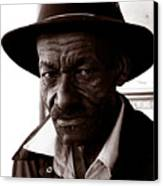 Legendary Bluesman And Folk Artist James Son Thomas Canvas Print