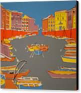 Leghorn Canal Canvas Print
