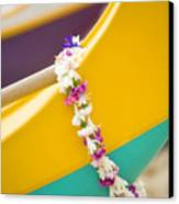 Lei Draped Over Outrigger Canvas Print by Dana Edmunds - Printscapes