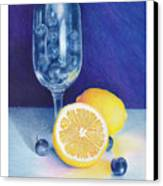 Lemon Blueberry Muffins Canvas Print by Elizabeth Dobbs