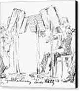 Lener String Quartet Canvas Print by Granger
