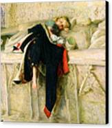 L'enfant Du Regiment Canvas Print by Sir John Everett Millais