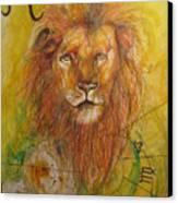 LEO Canvas Print by Brigitte Hintner