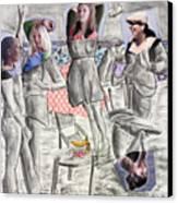 Les Demoiselles Of Santa Cruz V8 Canvas Print
