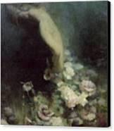 Les Fleurs Du Sommeil Canvas Print by Achille Theodore Cesbron