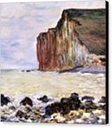 Les Petites Dalles Canvas Print by Claude Monet