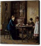 Lessons Canvas Print by Helen Allingham