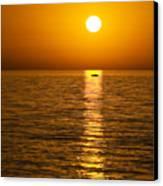 Lesvos Sunset Canvas Print by Meirion Matthias