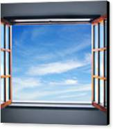 Let The Blue Sky In Canvas Print by Carlos Caetano