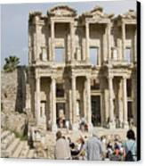 Library Ruins At Ephesus Turkey Canvas Print