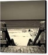 Life Is A Beach Canvas Print by Susanne Van Hulst