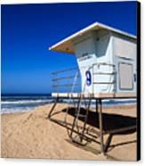 Lifeguard Tower Photo Canvas Print