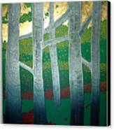 Light Between The Trees Canvas Print by Jarle Rosseland