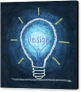 Light Bulb Design Canvas Print by Setsiri Silapasuwanchai