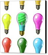 Light Bulbs Of A Different Color Canvas Print by Bob Orsillo