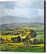 Light In The Valley At Rhug. Canvas Print