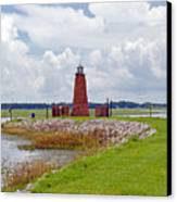 Lighthouse At Port Kissimmee On Lake Tohopekaliga In Central Florida   Canvas Print
