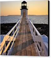 Lighthouse Boardwalk Canvas Print by Benjamin Williamson