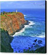 Lighthouse On The Hill Canvas Print