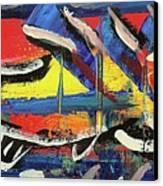 Lil Funky Folk Fish Number Nine Canvas Print
