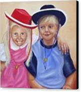 Lil Pardners Canvas Print