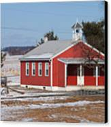 Lil Red School House Canvas Print
