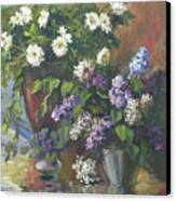 Lilacs And Asters Canvas Print by Tigran Ghulyan
