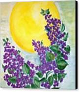 Lilacs In The Midnight Sun Canvas Print