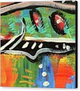 Lil'funky Folk Fish Number Fifteen Canvas Print by Robert Wolverton Jr