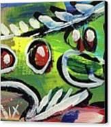 Lil'funky Folk Fish Number Thirteen Canvas Print by Robert Wolverton Jr
