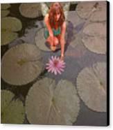 Lilypad Fairy Canvas Print by Patricia Ridlon