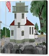 Lime Kiln Light On San Juan Island Canvas Print