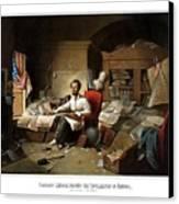 Lincoln Writing The Emancipation Proclamation Canvas Print