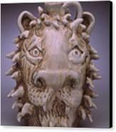 Lion Face Jug Canvas Print