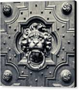Lion Head Door Knocker Canvas Print by Adam Romanowicz