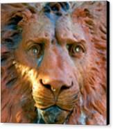 Lion Of Saint Augustine Canvas Print