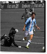 Lionel Messi The King Canvas Print